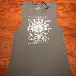 Boho grey tank top never worn